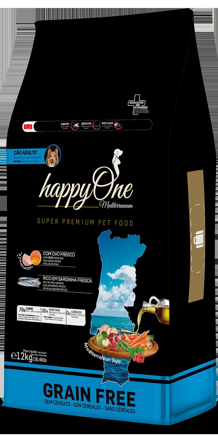 HappyOne Mediterraneum Adult Dog - Sardine 12 kg( pro dospělé psy)