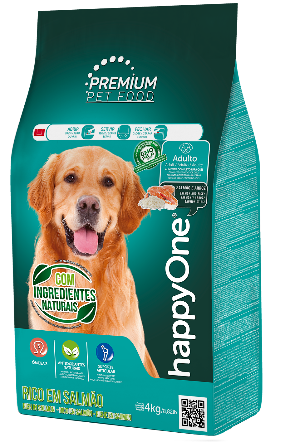 HappyOne Premium Adult Dog - Salmon and Rice 15 kg(pro dospělé psy)
