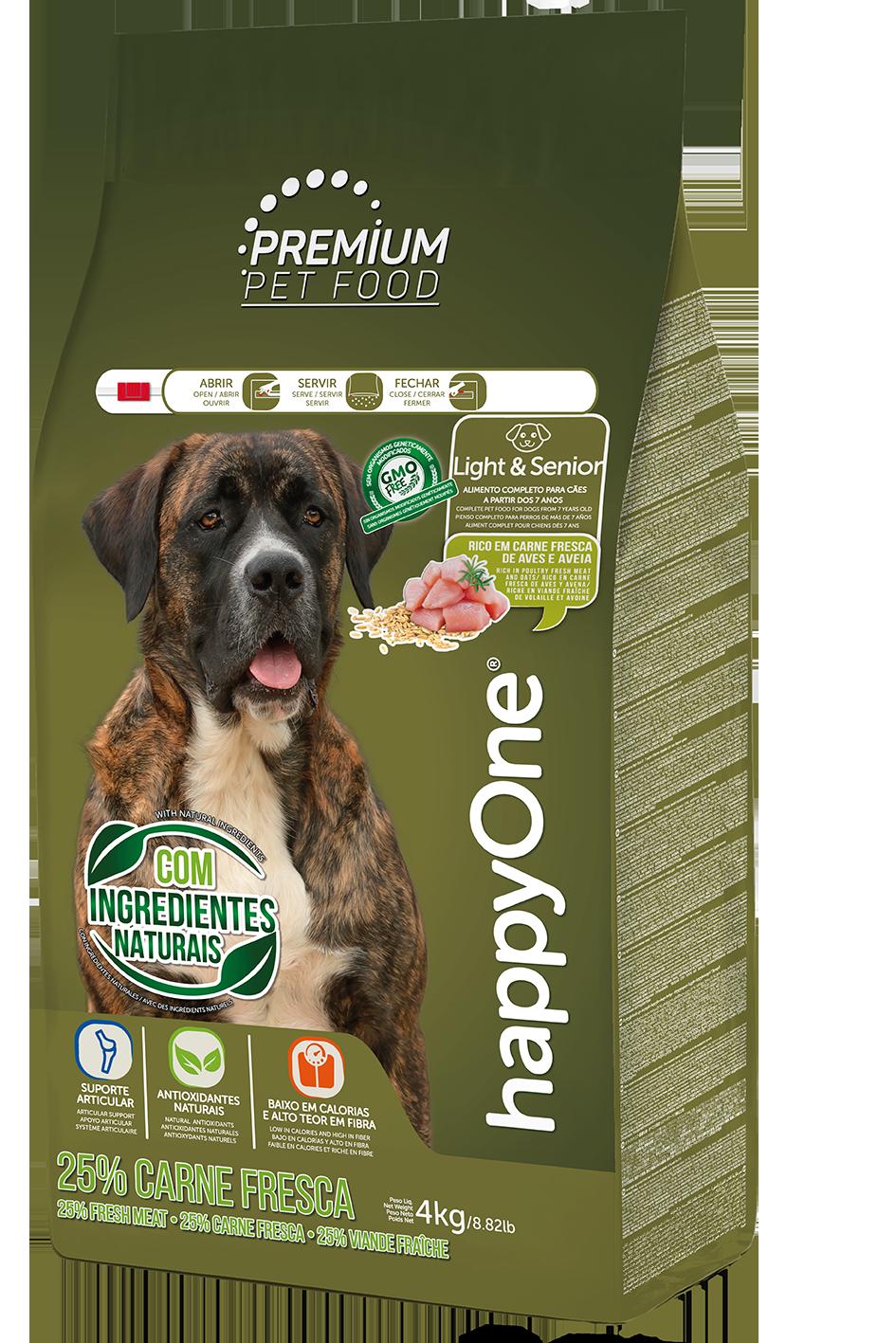 HappyOne Premium Dog Light & Senior - Fresh Meat 4 kg