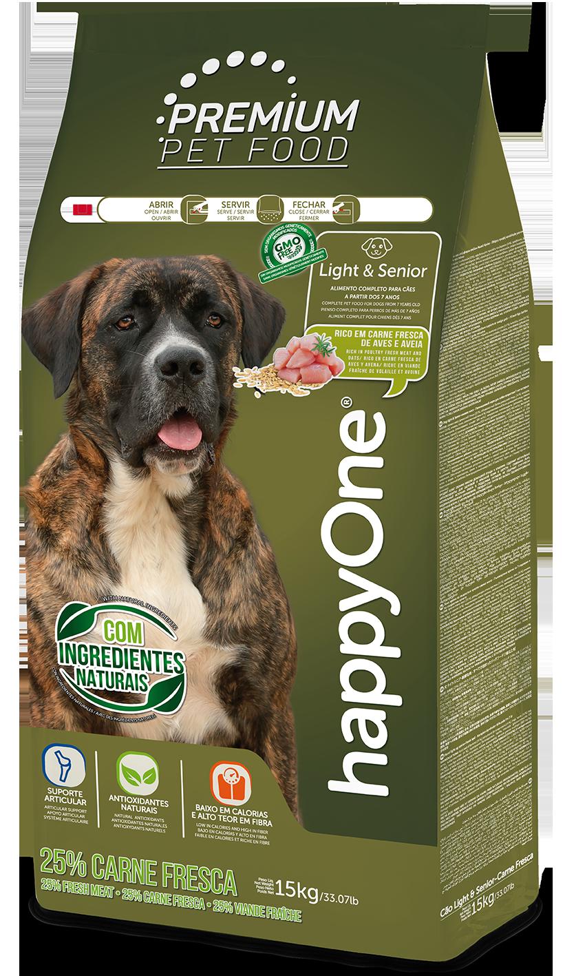 HappyOne Premium Dog Light & Senior - Fresh Meat 15 kg( pro psy od 7 let)