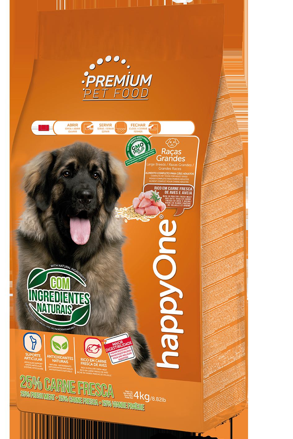 HappyOne Premium Dog Large Breeds - Fresh Meat 4 kg