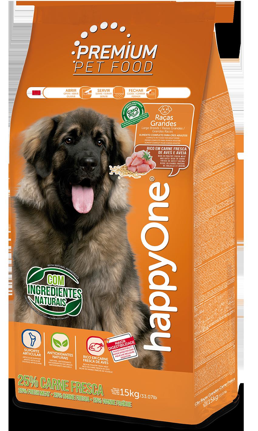 HappyOne Premium Dog Large Breeds - Fresh Meat 15 kg(pro dospělé psy velkých plemen)