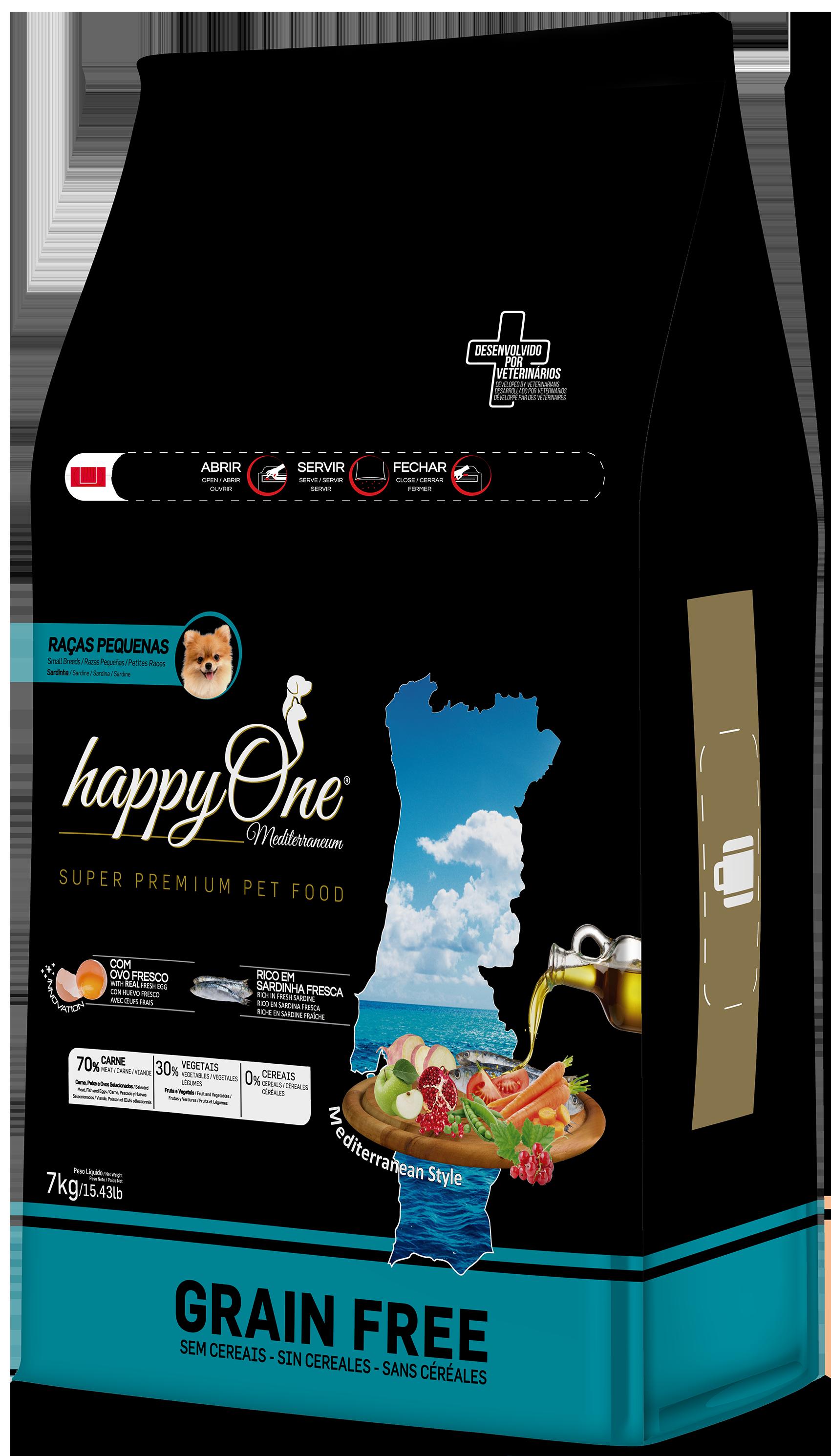 HappyOne Mediterraneum Small Breed Sardine 7 kg